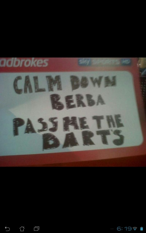 fun at the darts.